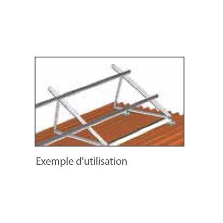 Structure triangle Alu pour dalle beton