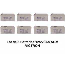 Lot de 8 Batteries 12V/220Ah AGM VICTRON