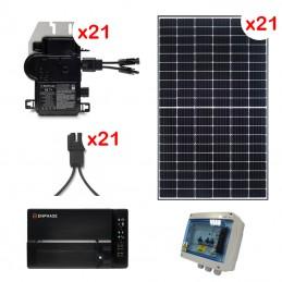 Centrale solaire 14.85 Kwc en autoconsommation sans stockage FRONIUS