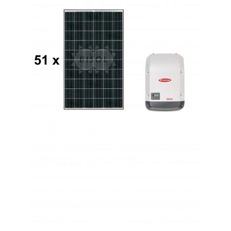 Centrale solaire 16.83 Kwc en autoconsommation sans stockage FRONIUS