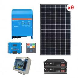 Centrale solaire 3.96 Kwc en autoconsommation avec stockage VICTRON