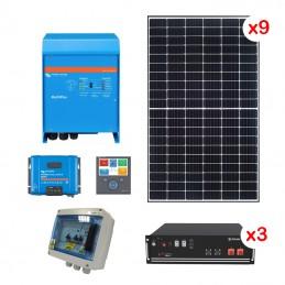 Centrale solaire 4.95 Kwc en autoconsommation avec stockage VICTRON