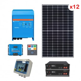 Centrale solaire 5.94 Kwc en autoconsommation avec stockage VICTRON
