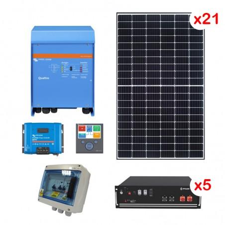 Centrale solaire 9.90 Kwc en autoconsommation avec stockage VICTRON