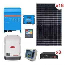 Centrale solaire 12.87 Kwc en autoconsommation avec stockage VICTRON