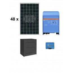 Centrale solaire 15.84 Kwc en autoconsommation avec stockage VICTRON