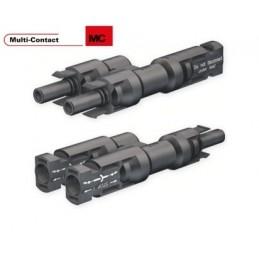 Paire de Connecteurs MC4 Forme Y